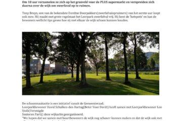"""<a href=""""/?p=1224""""> Bewoners Leerpark actief bij Dordt Schoon</a>"""