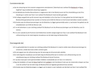 """<a href=""""/?p=1701""""> Motie Leefwerf De Biesbosch in veilig vaarwater aangenomen</a>"""